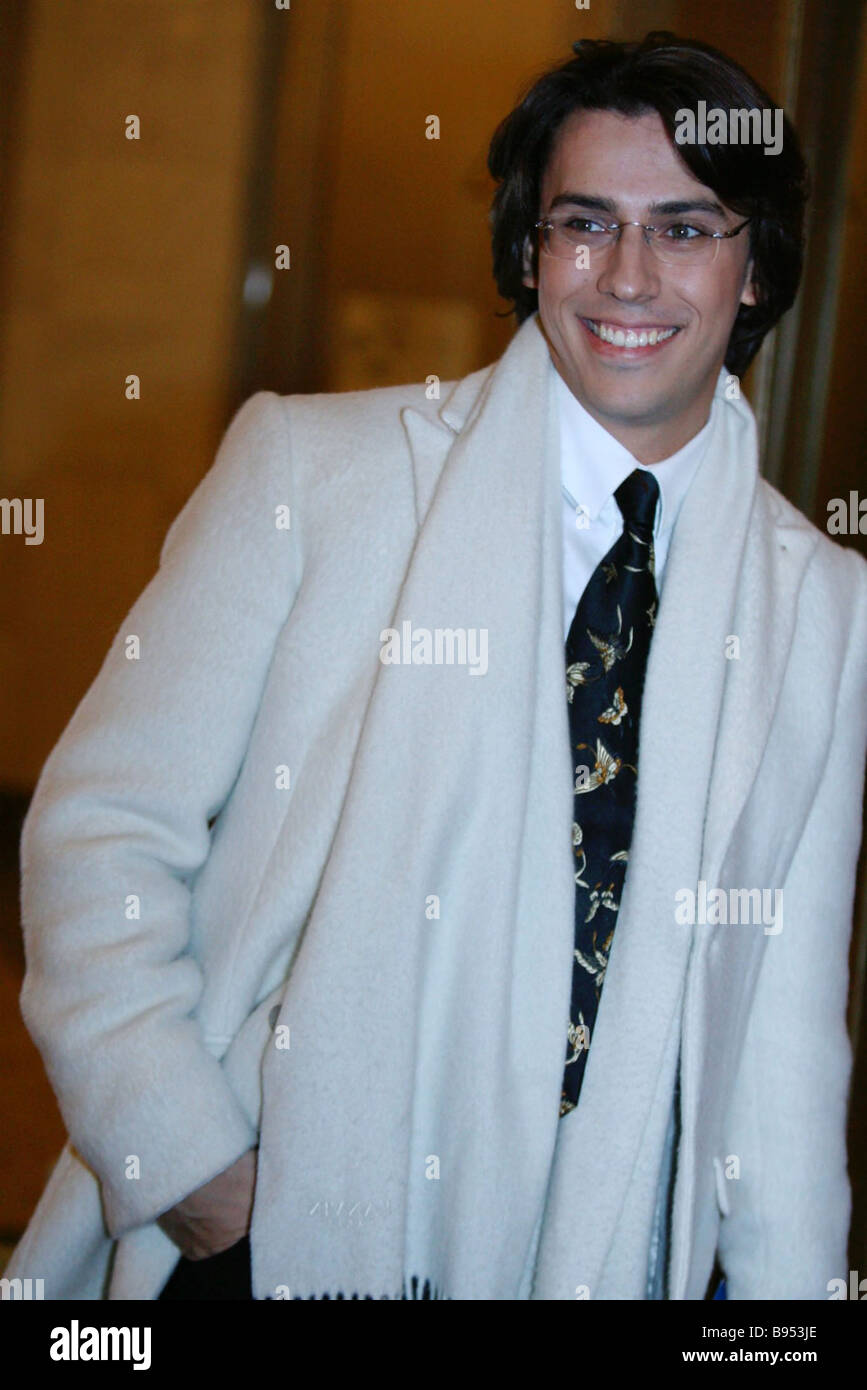 Actor and television anchor Maxim Galkin radiant before the national television prize TEFI 2006 decoration gala - Stock Image