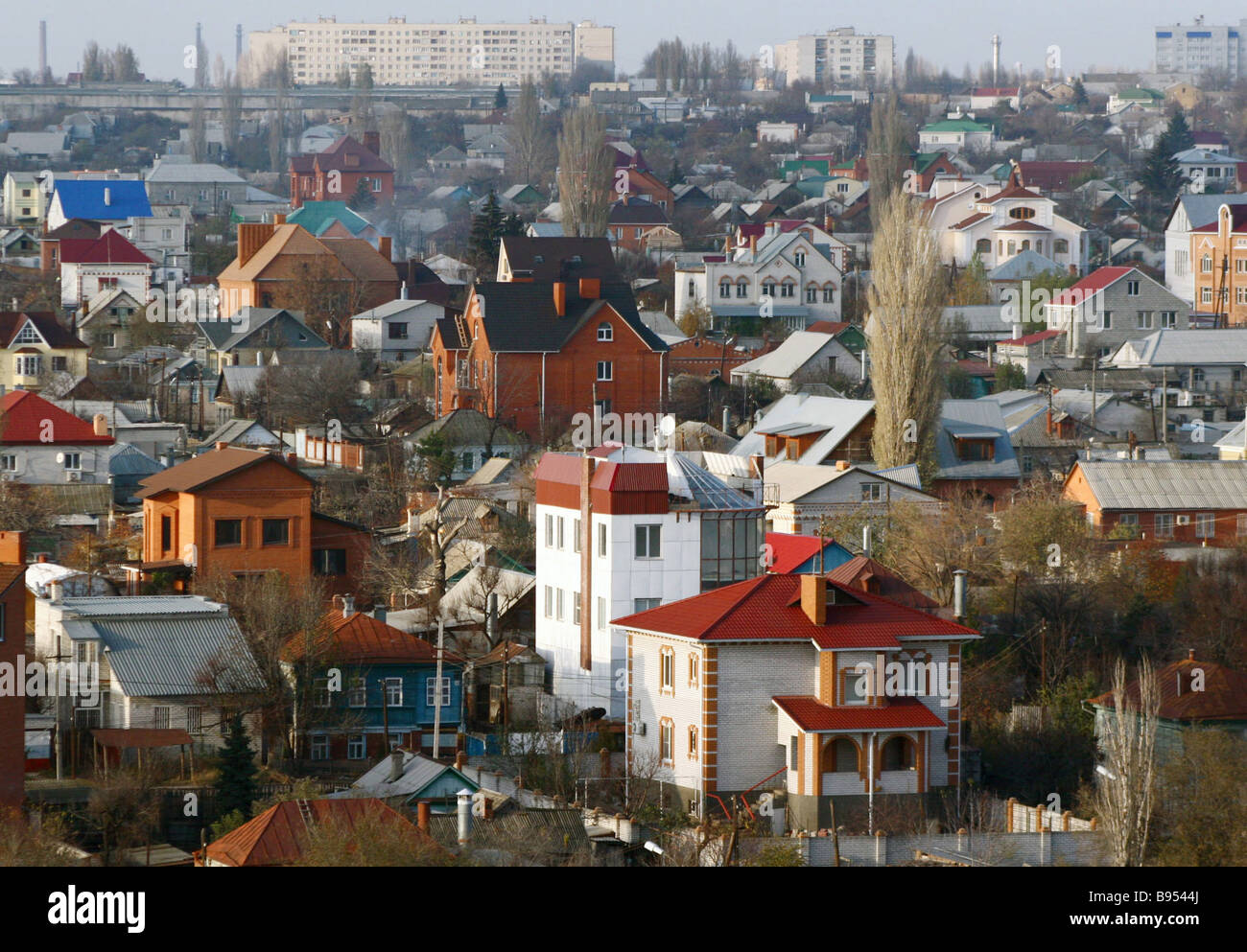 Private homes in Volgograd - Stock Image