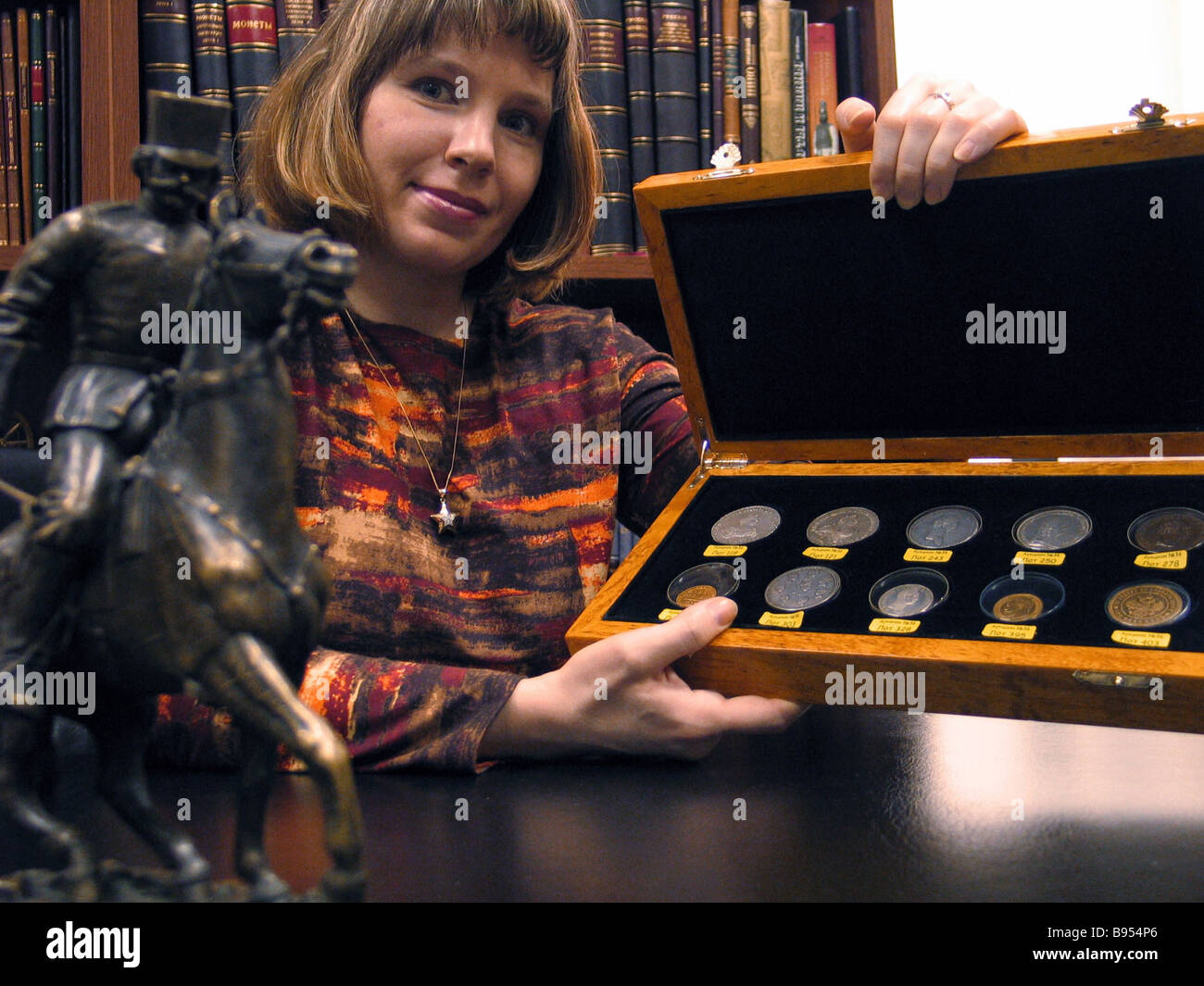 An exhibition auction Collectible Russian Coins and Medals in Moscow - Stock Image