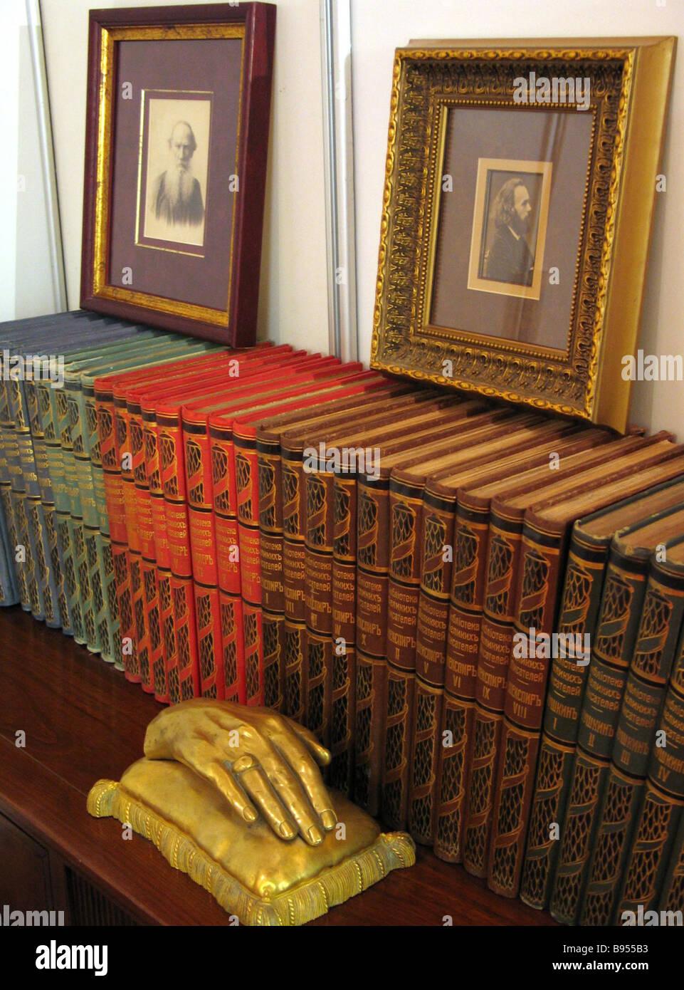 At an antique book fair - Stock Image