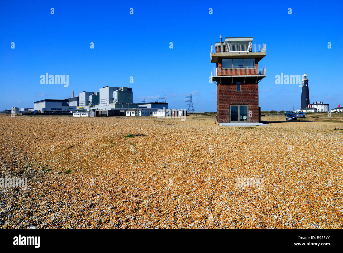 Atomic power station at Dungeness - Stock Image