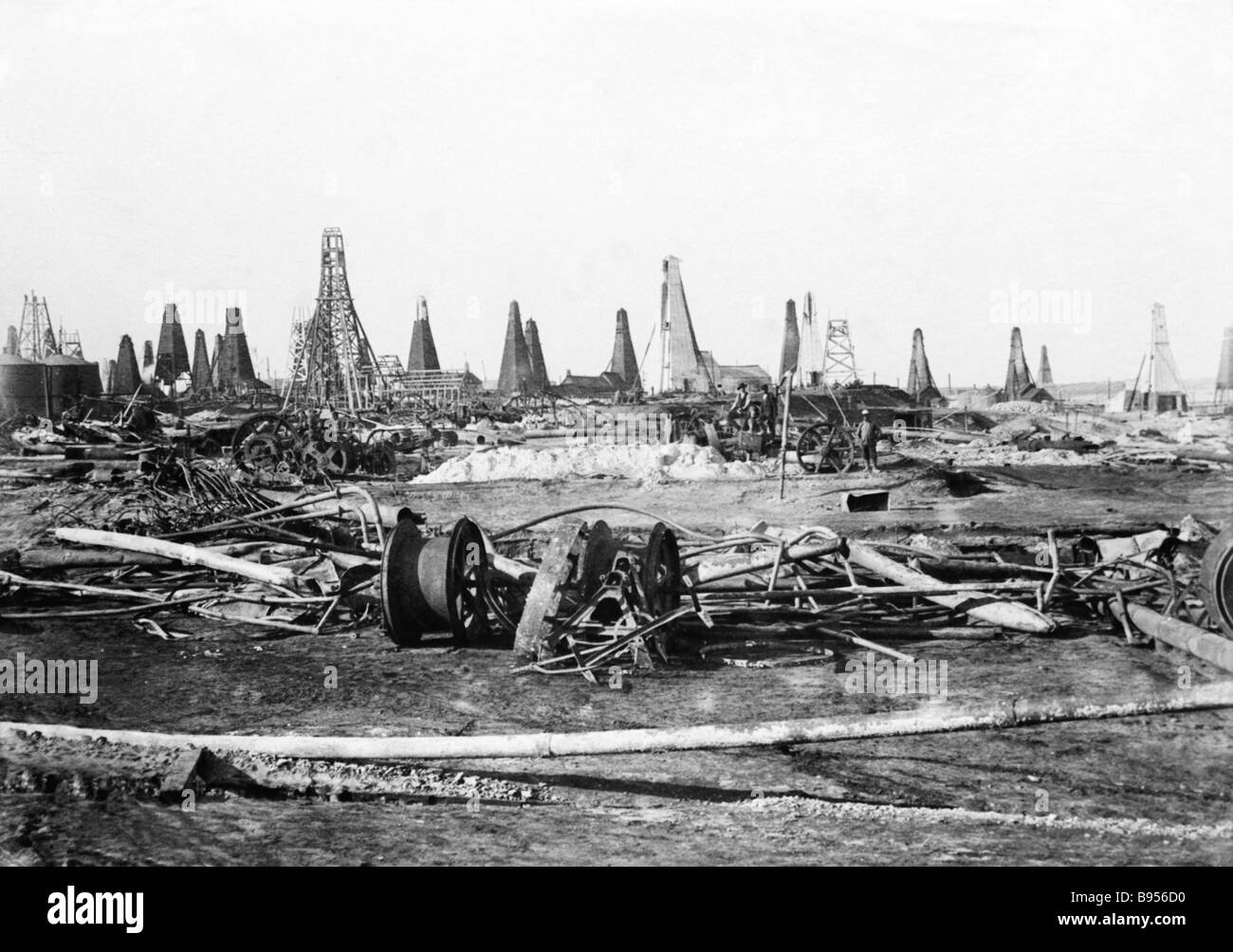 Baku Romany Oil fields Melikov Rothschild Caspian Company Ltd Late 19th century Archives of the Moscow based State - Stock Image