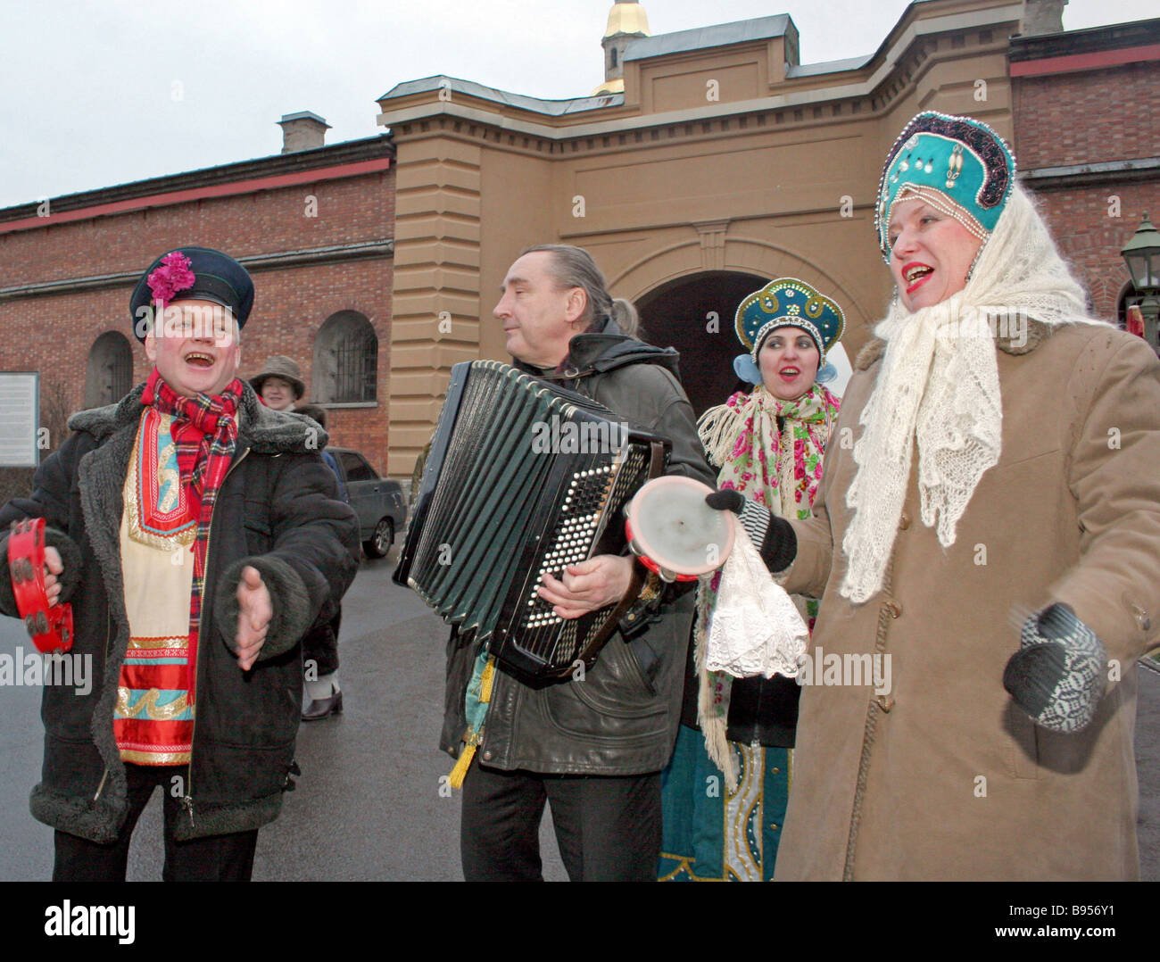 Christmastide festivities at the Sts Peter and Paul Fortress in St Petersburg - Stock Image