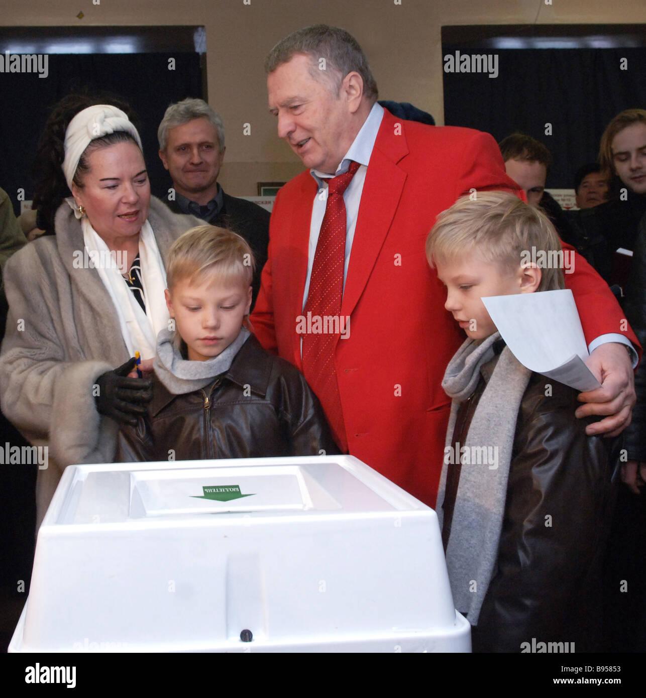 Children Zhirinovsky Vladimir Volfovich. Personal life and family