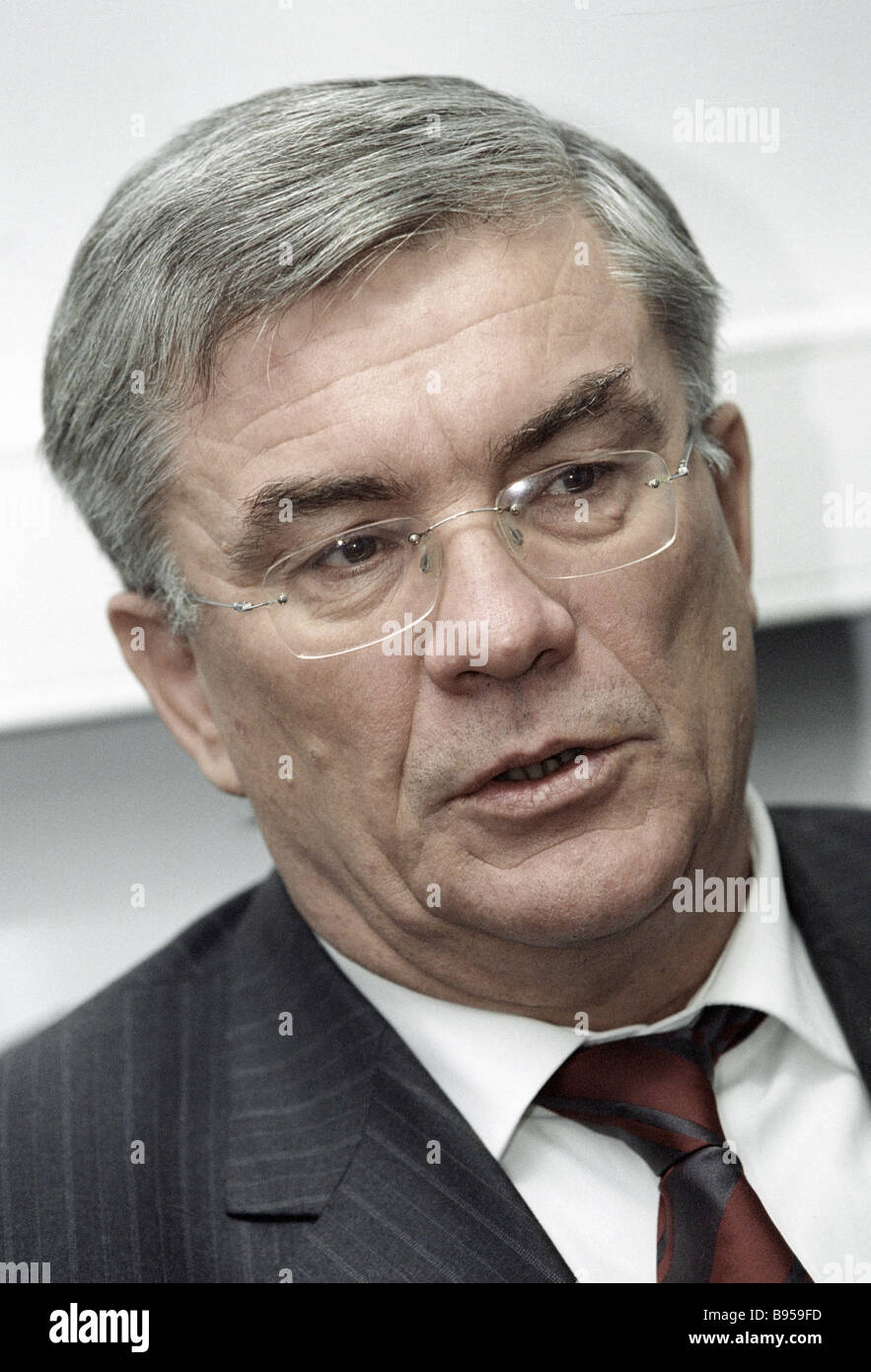 Chairman of the Russian Pension Fund Gennady Batanov Stock Photo