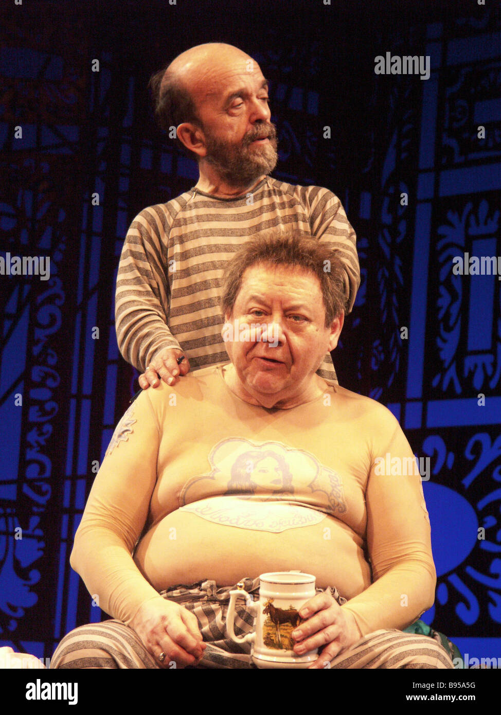 A scene from Tartuffe played by Oleg Tabakov and Vladimir Fedorov The play is staged by Nina Chusova at the Chekhov - Stock Image