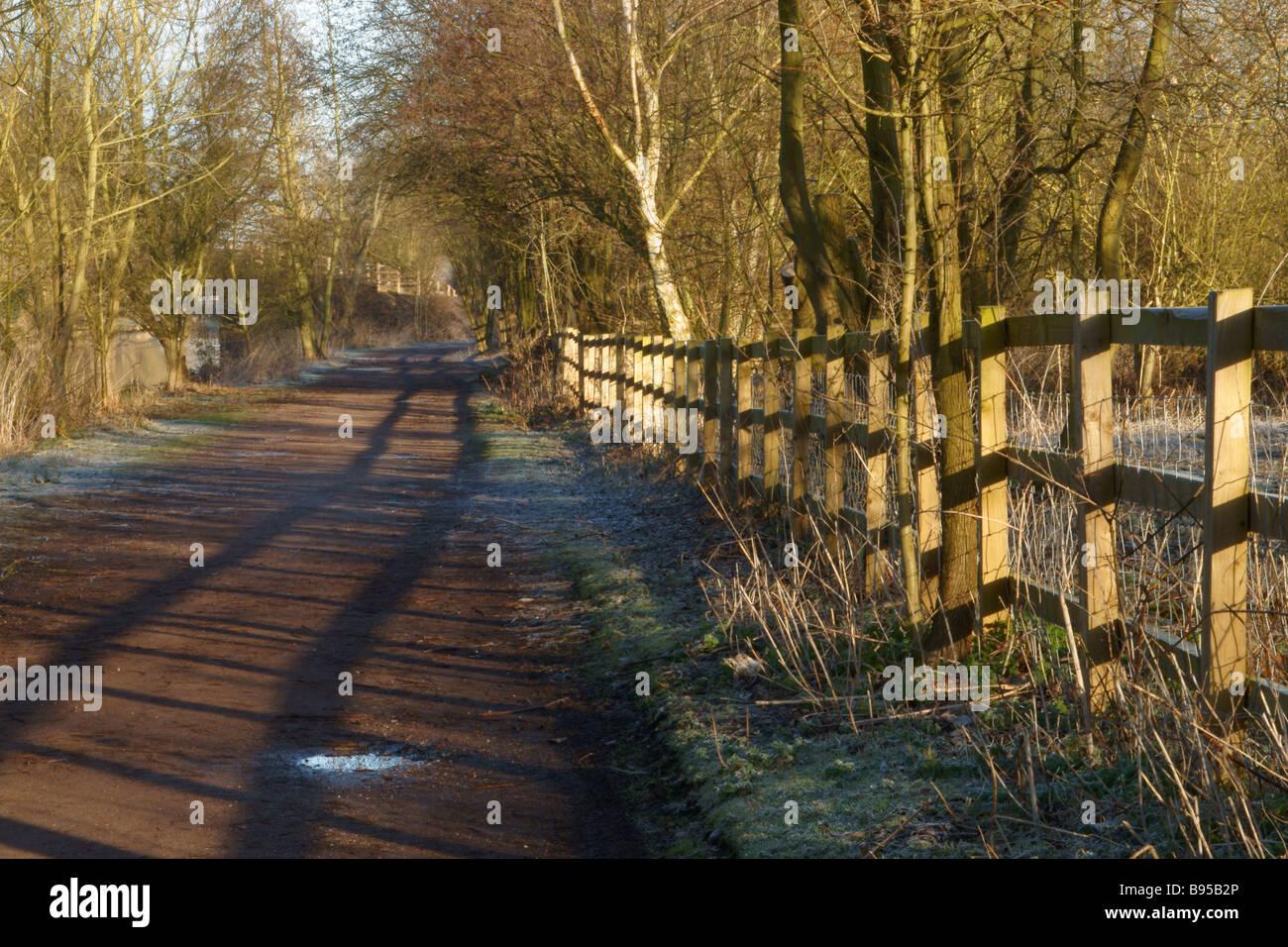River Lea Towpath - Stock Image