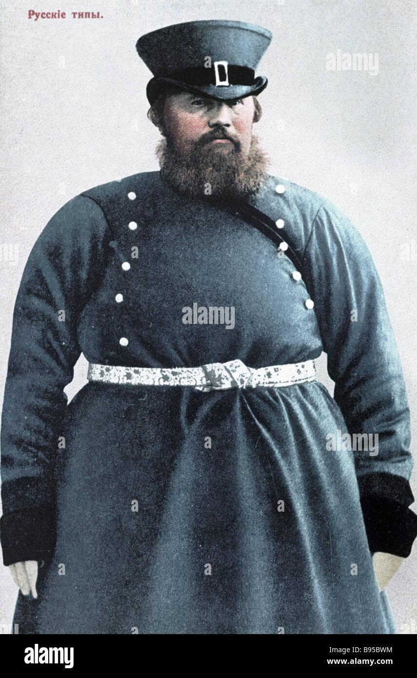 A late 19 century coachman - Stock Image