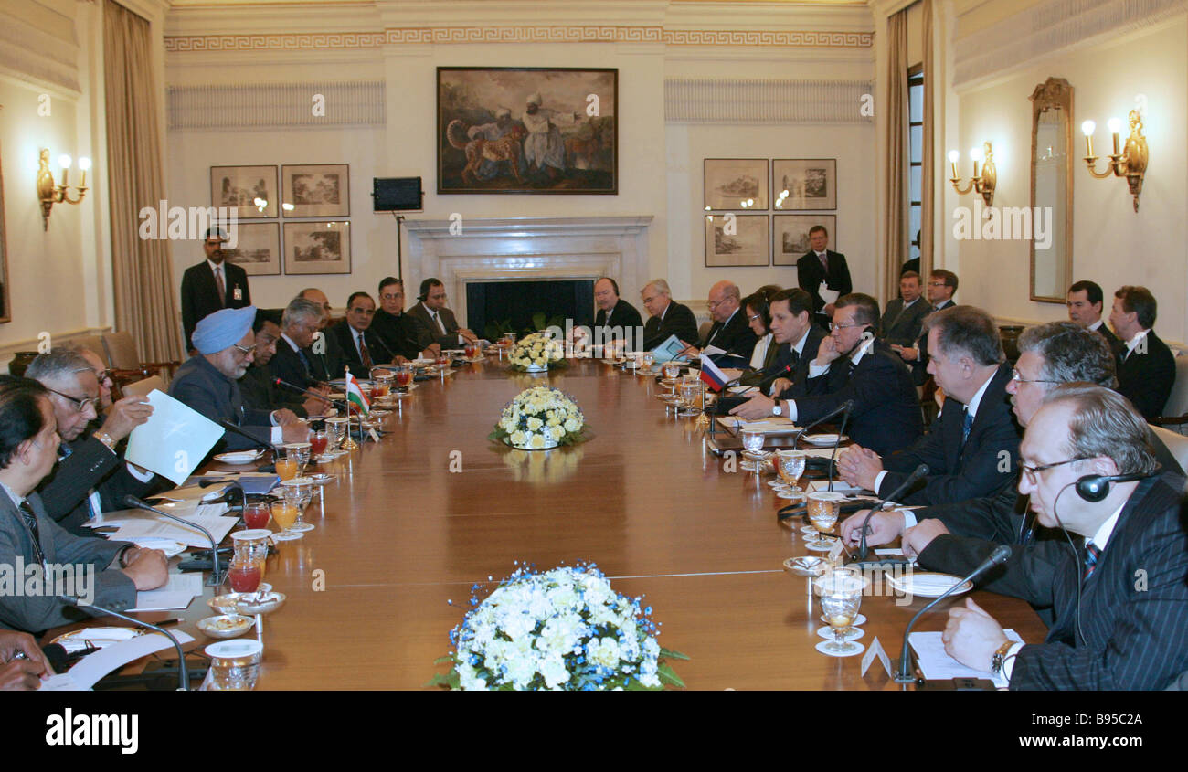 Russian Indian bilateral talks - Stock Image