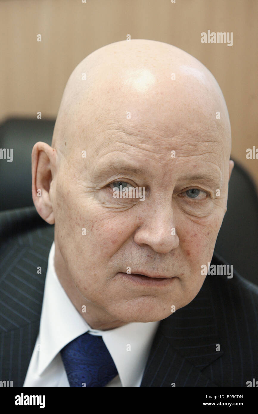 Presidential candidate and Chairman of the Russian Communist Party Oleg Shenin - Stock Image