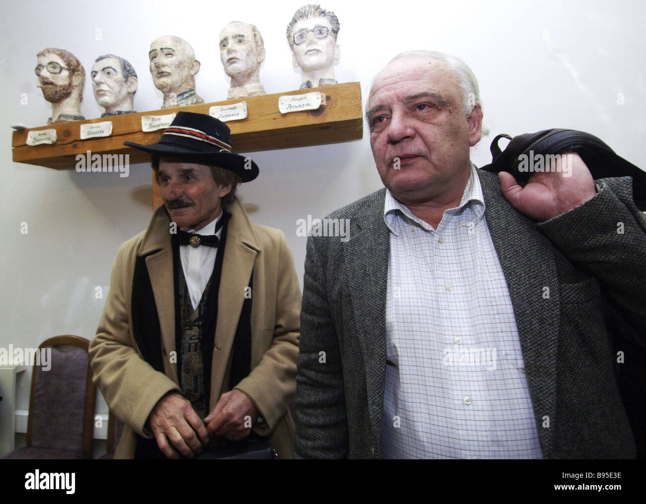 An initiative group for nominating Vladimir Bukovsky right a human rights activist and a former Soviet dissident - Stock Image