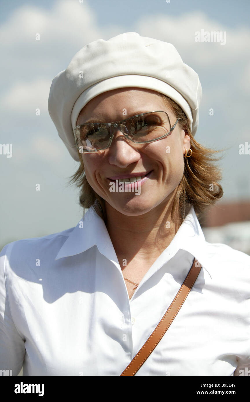 Maria Kiseleva is on Russia s Olympic synchronous swimming team - Stock Image