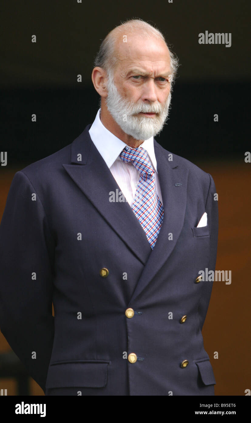 His Royal Majesty Prince Michael of Kent at opening the international golf competition BMW Russian Open 2004 - Stock Image