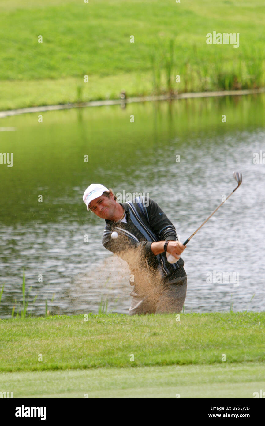 Sven Struver of Germany participant in international golf tournament BMW Russian Open - Stock Image