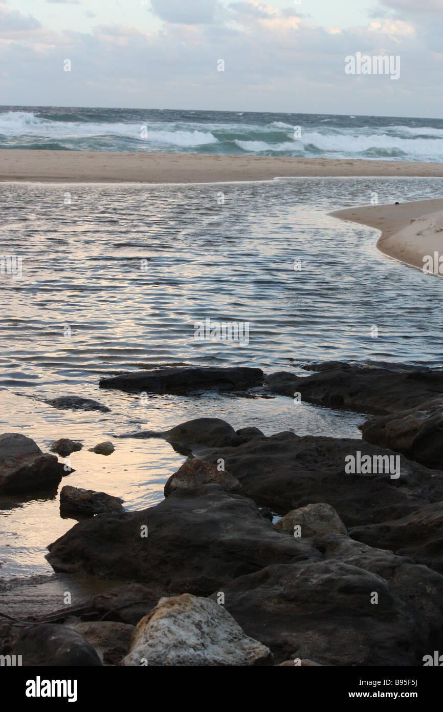 Castaway Beach on the Sunshine Coast Qld, near Noosa - Stock Image