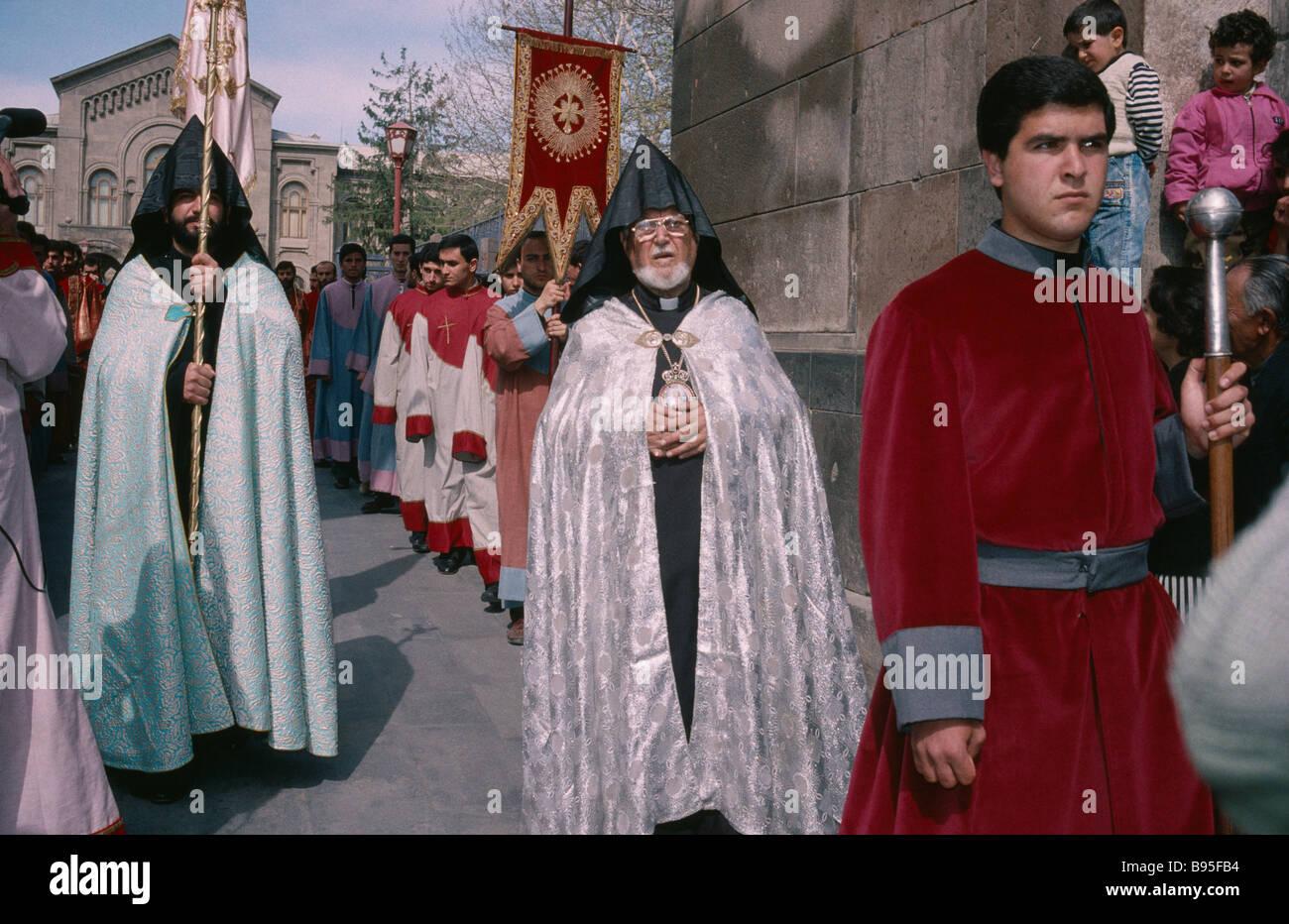 ARMENIA Central Asia Etchmiadzin Apostolic Orthodox Easter