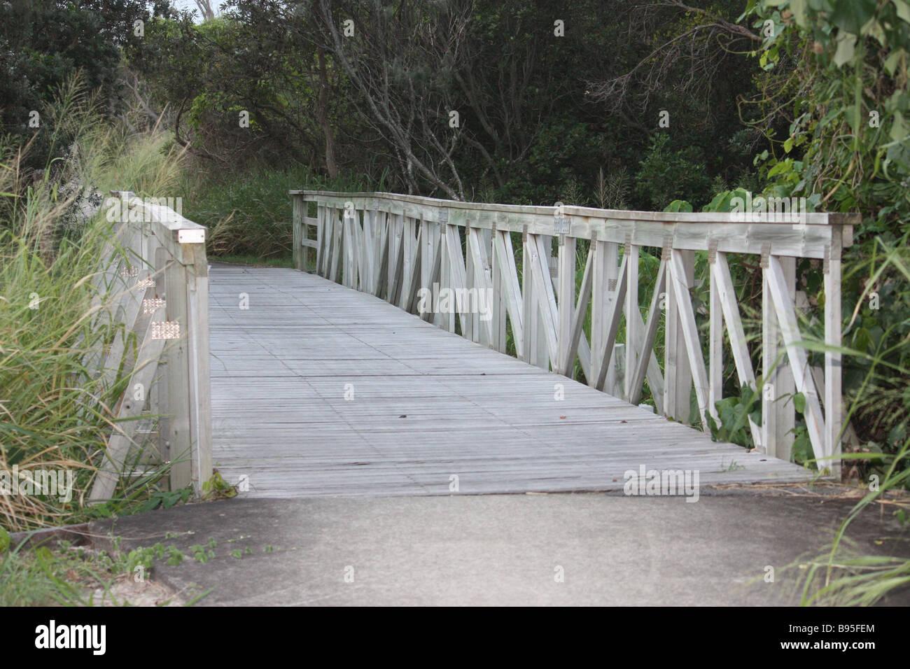 Bridge Walkway Marcus Beach Qld Queensland - Stock Image