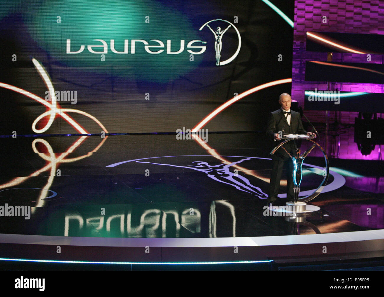 President Vladimir Putin attends the 9th annual ceremony of granting Laureus World Sports Awards in the concert - Stock Image