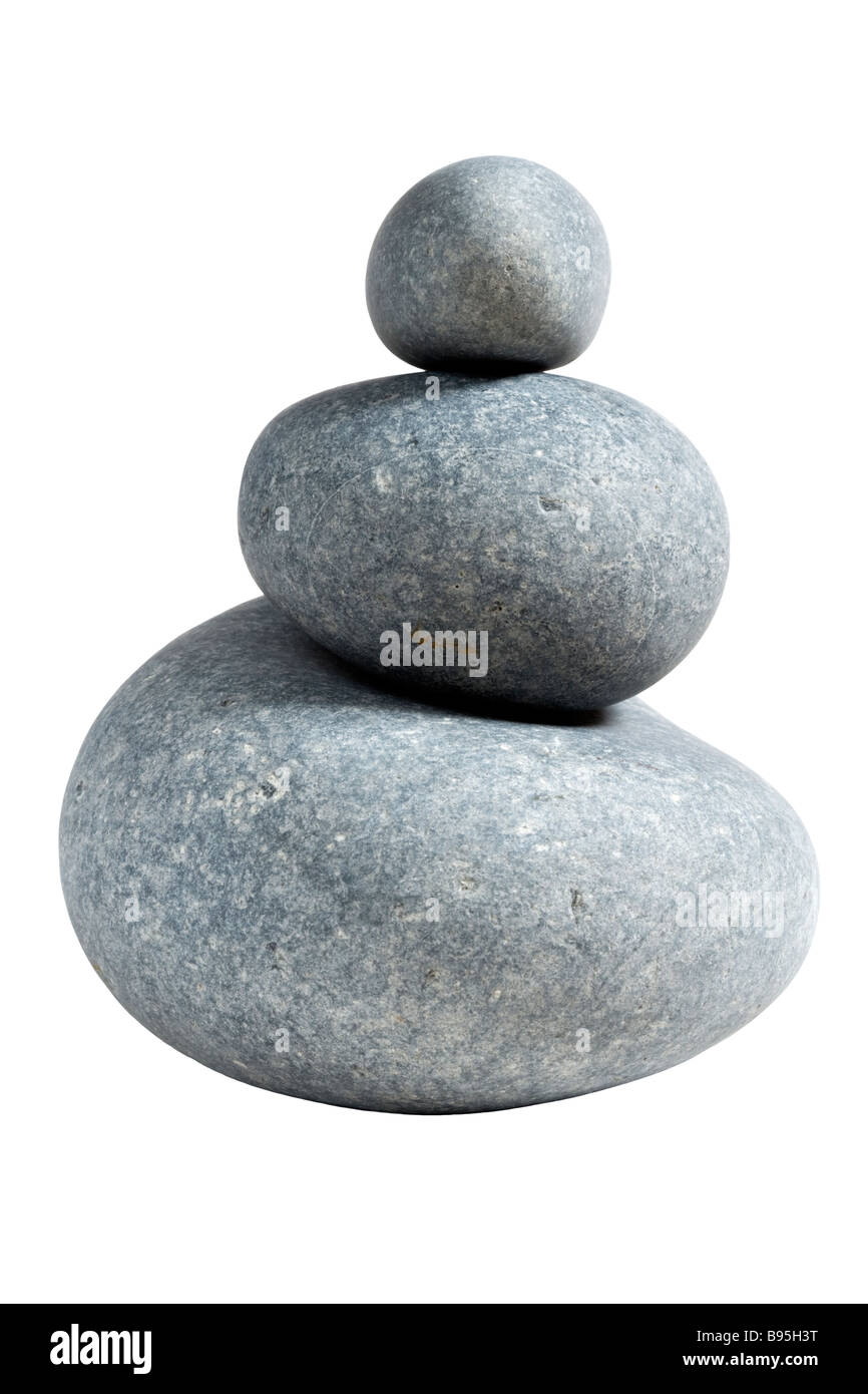 Large pebbles (limestone) - Stock Image