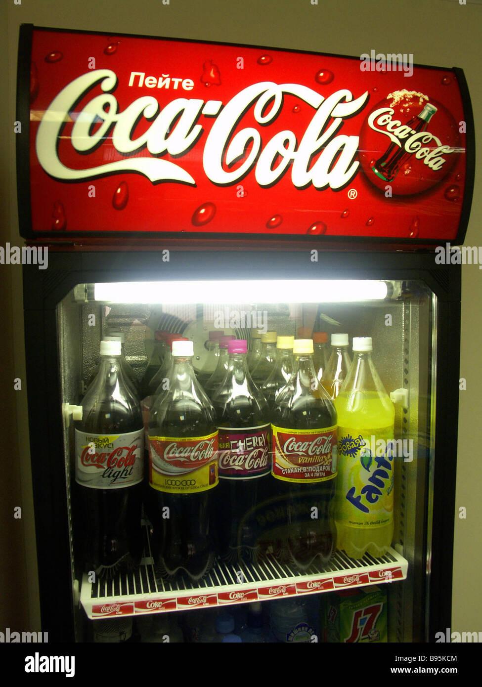 Cold Coca Cola pops - Stock Image