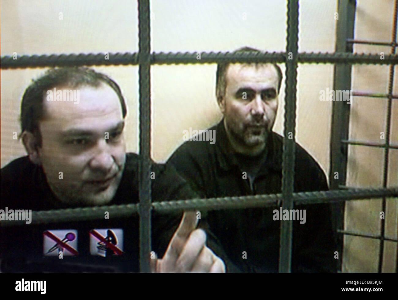 Adam Dekkushev and Yusuf Krymshamkhalov left citizens of Karachai Circassia at a session of the Supreme Court The - Stock Image