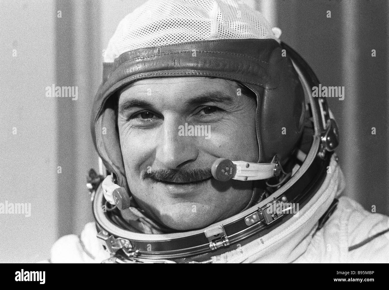 On July 6 -- August 24, 1976, Pilot-Cosmonaut of the USSR, Hero of the Soviet Union and flight engineer Vitaly Zholobov - Stock Image