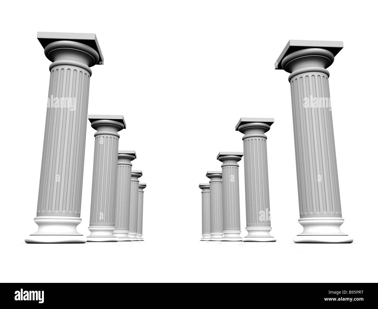 white column - Stock Image
