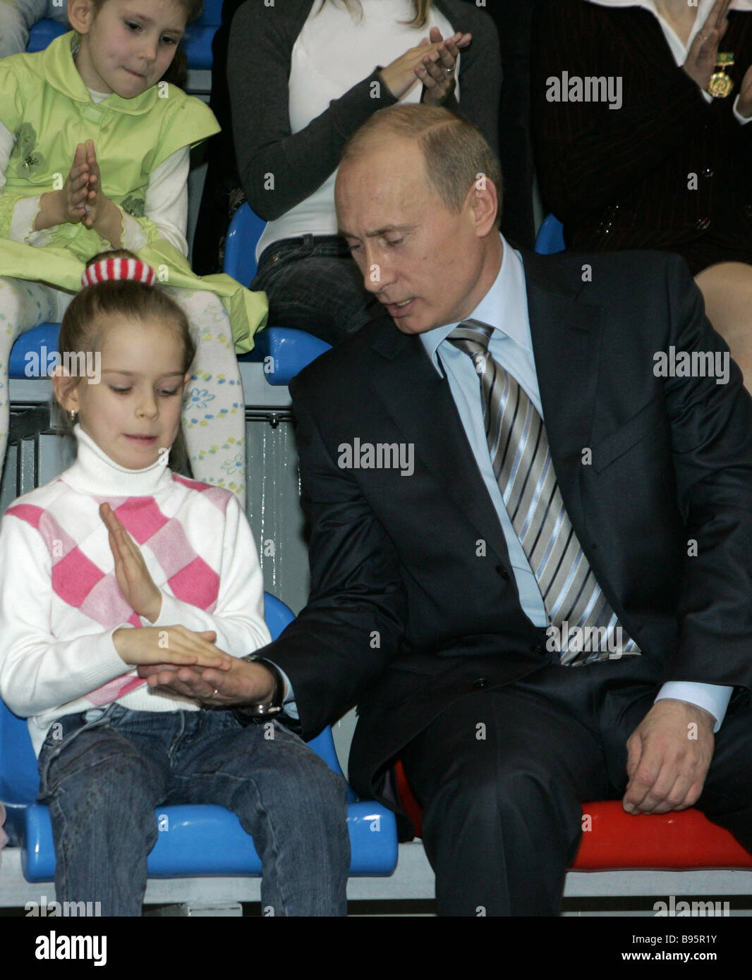 January 23 2008 President Vladimir Putin at the opening of the Year of the Family in Penza which took place at the - Stock Image