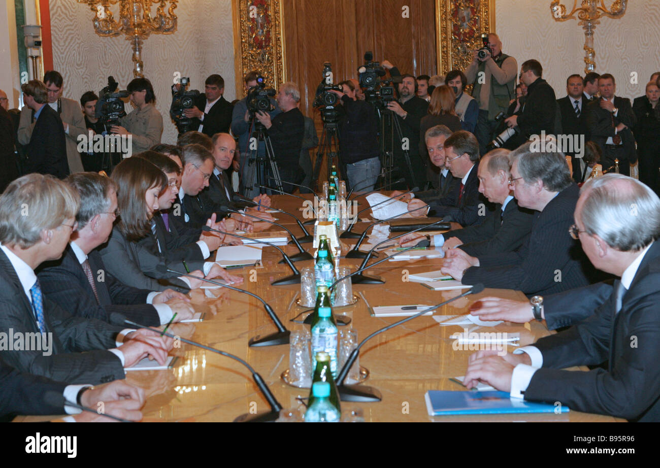 November 6 2007 The Russian Dutch talks in the Kremlin - Stock Image