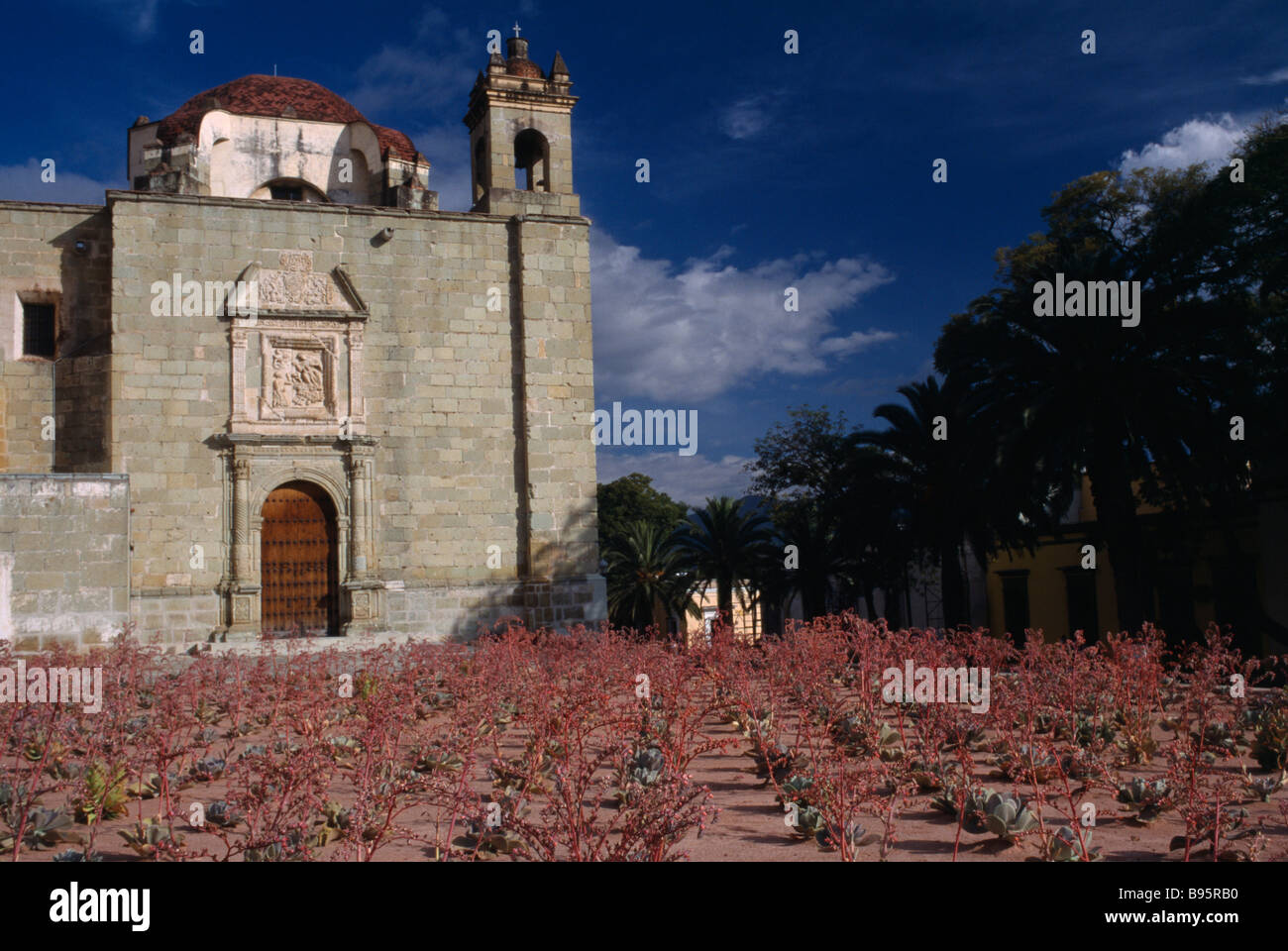 MEXICO Oaxaca Exterior facade of sixteenth century Santo Domingo church. - Stock Image