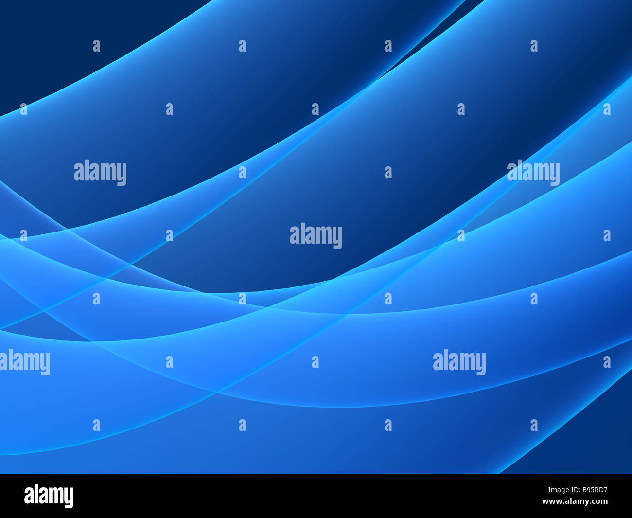 blue shapes - Stock Image