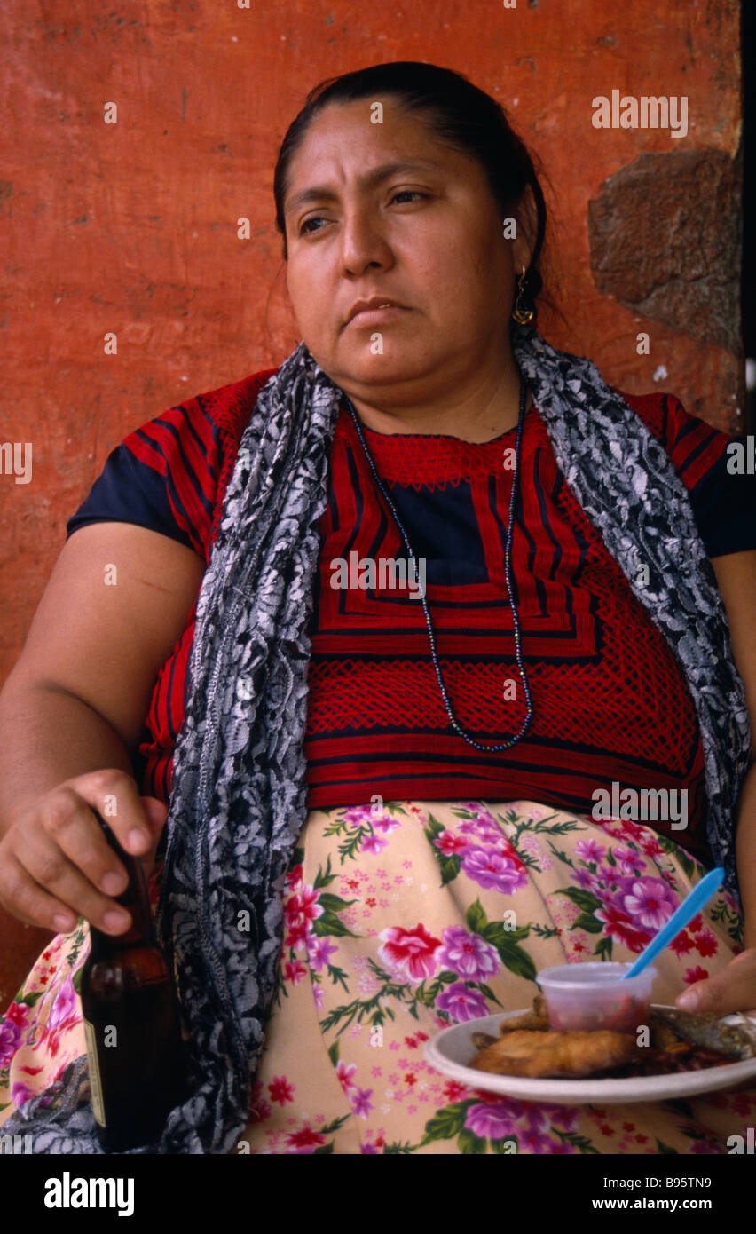 MEXICO Oaxaca Juchitan Matriarchal society  Portrait of