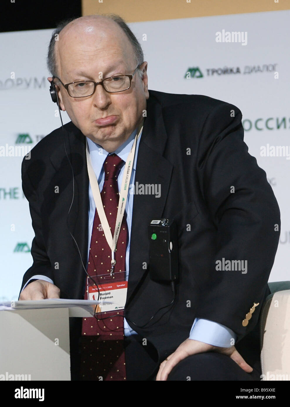 Ronald Freeman a member of the Troika Dialog board of directors at the International Economic Forum Forum Russia - Stock Image