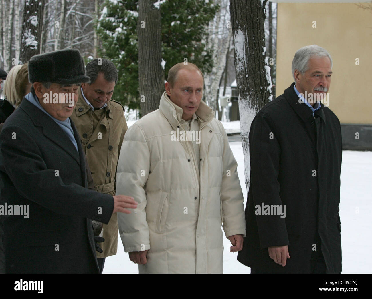 November 17 2007 Mintimer Shaimiyev left president of Tatarstan and co chairman of the Supreme Council of the United - Stock Image