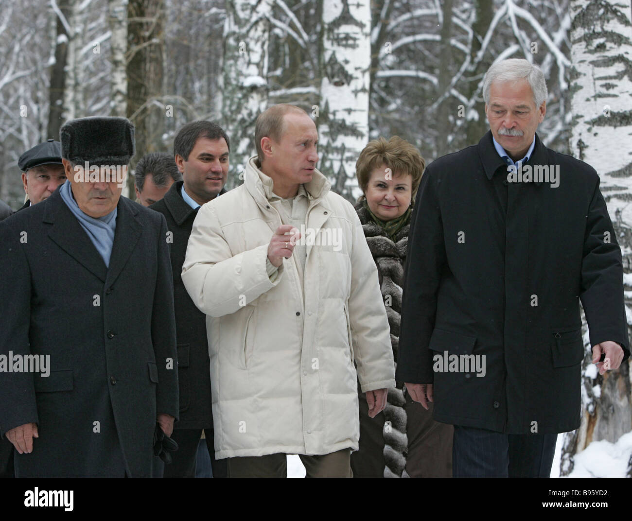 November 17 2007 From left in the foreground President of Tatarstan and Co Chairman of the Supreme Council of the - Stock Image