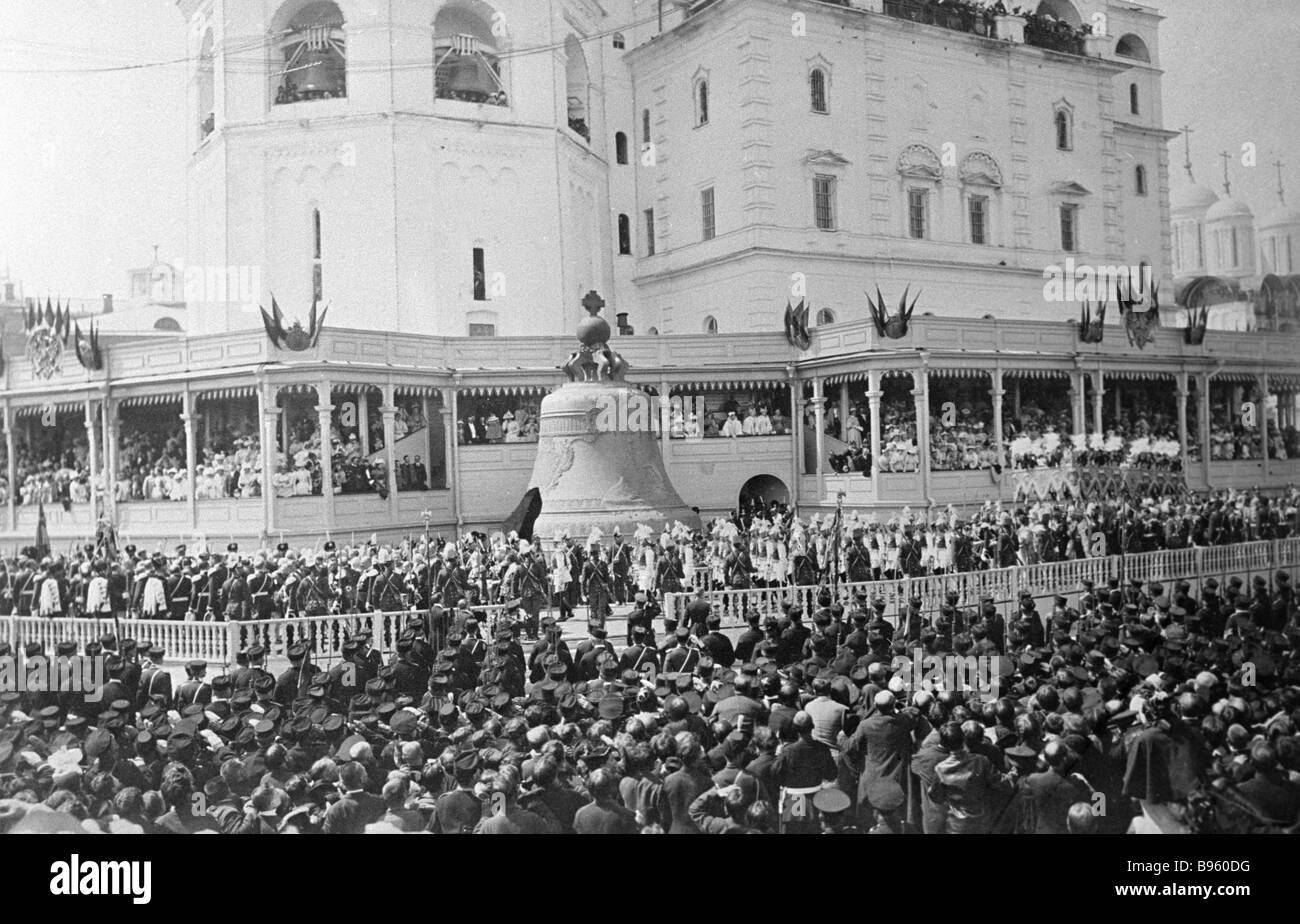 Moscow gala on Emperor Nicholas II s coronation - Stock Image