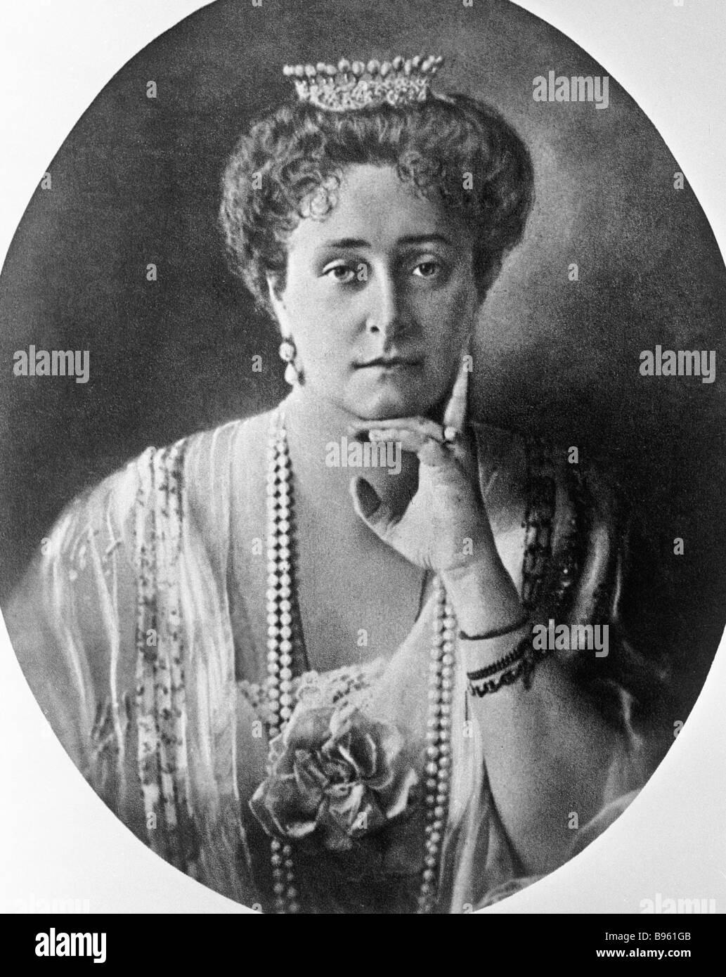 Empress Alexandra Feodorovna - Stock Image