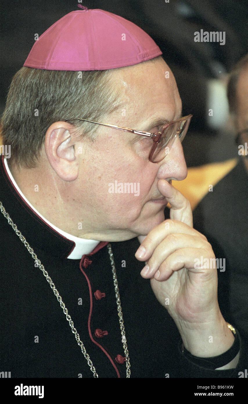 Head of Russian Catholics Archbishop Tadeus Kondrusevich - Stock Image