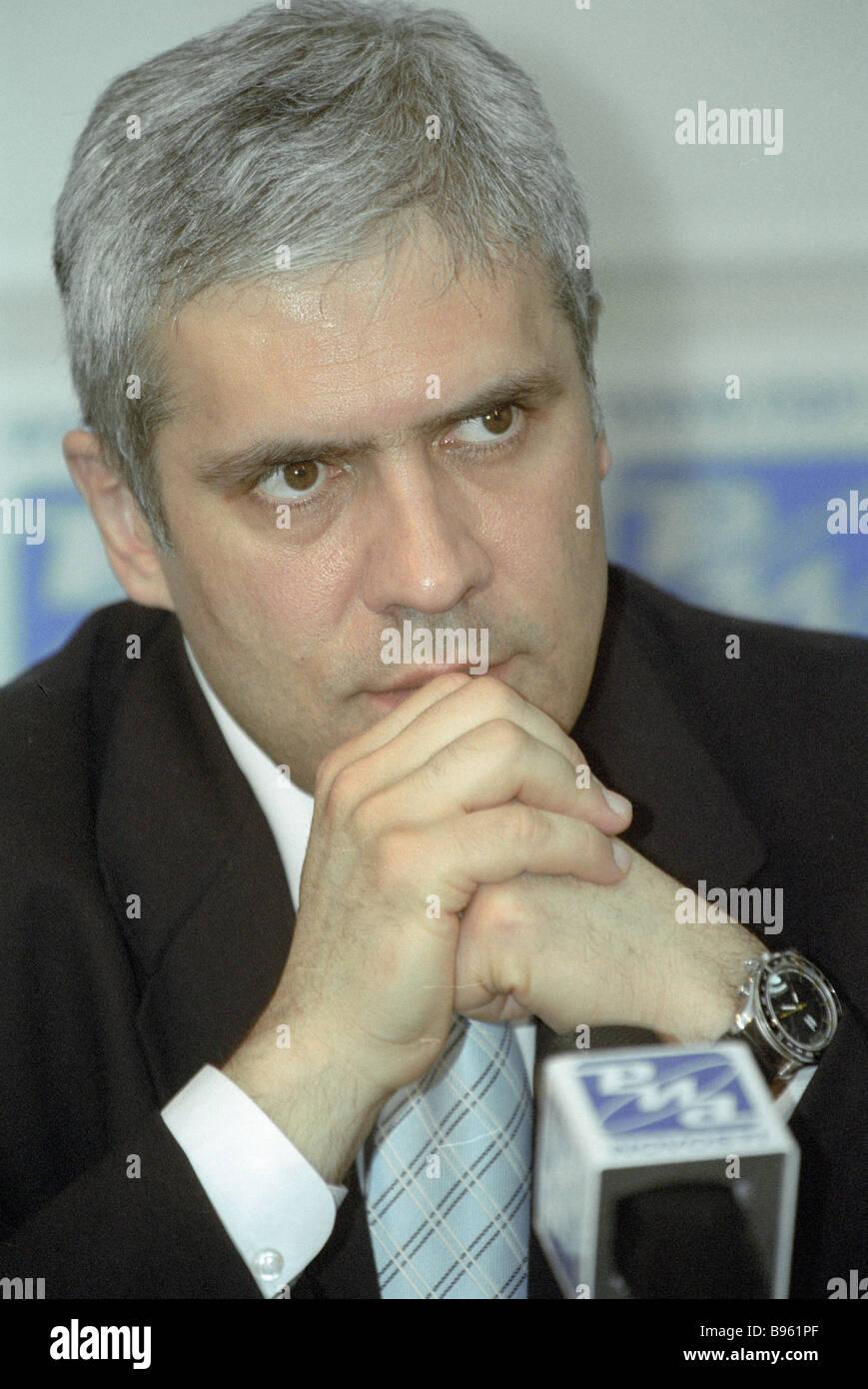 Boris Tadic Democratic Party presidential candidate Serbia - Stock Image