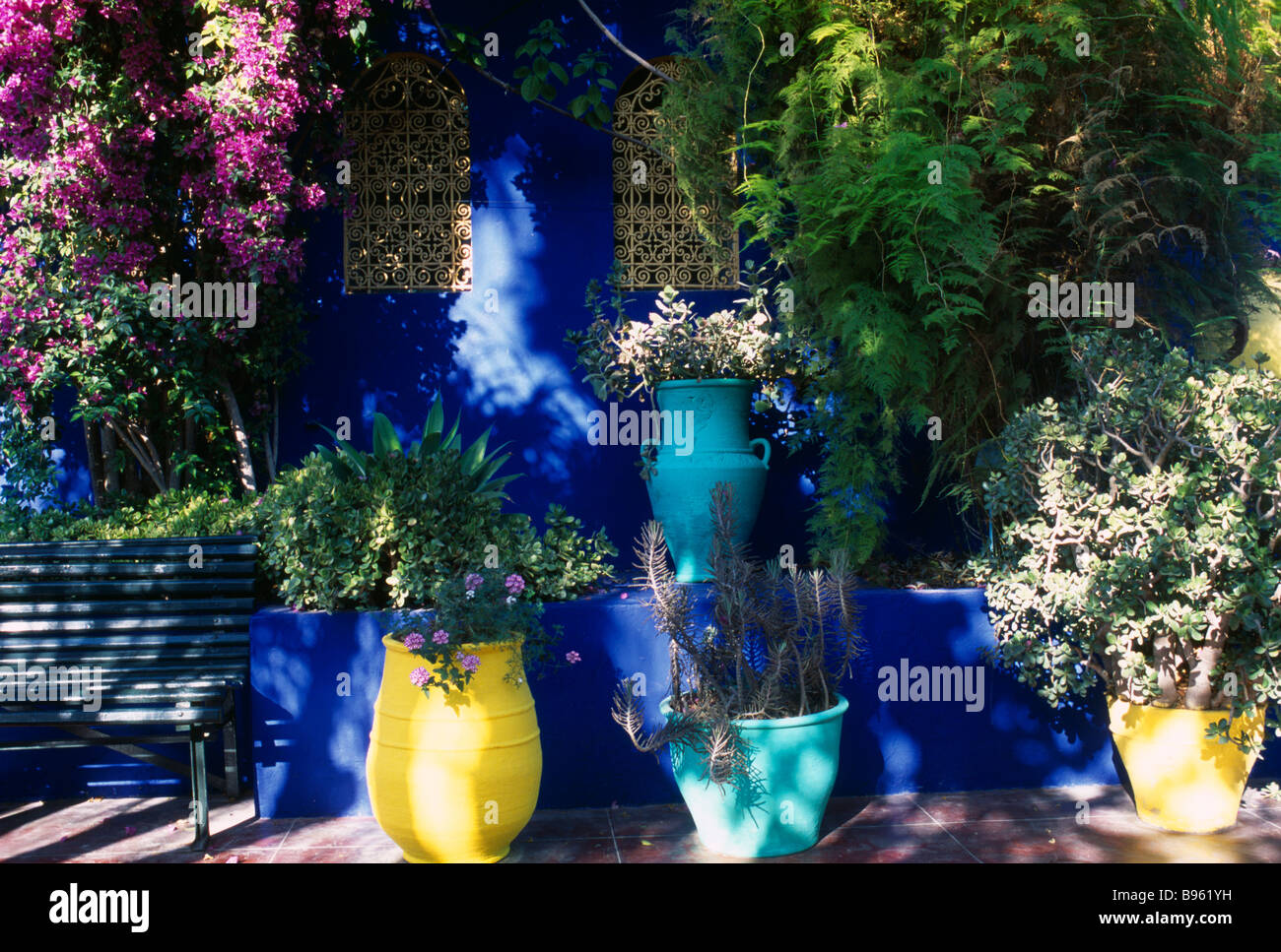 morocco north africa marrakesh jardin majorelle owned by yves st stock photo 22875541 alamy. Black Bedroom Furniture Sets. Home Design Ideas