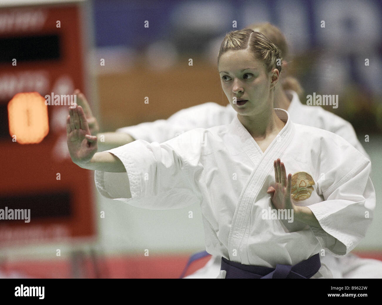 Participant of the Karate European Championship 2004 - Stock Image