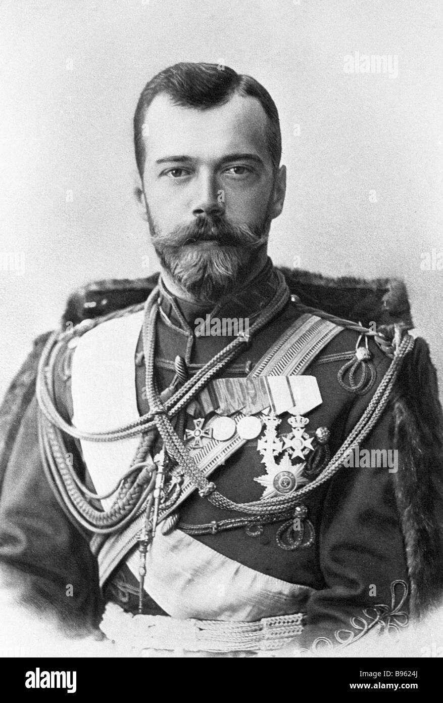 His Majesty Nicholas II the Emperor of Russia 1868 1918 1914 photograph - Stock Image