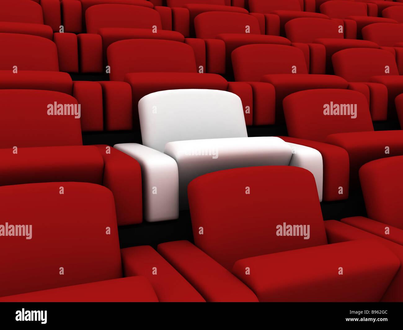 cinema seats - Stock Image