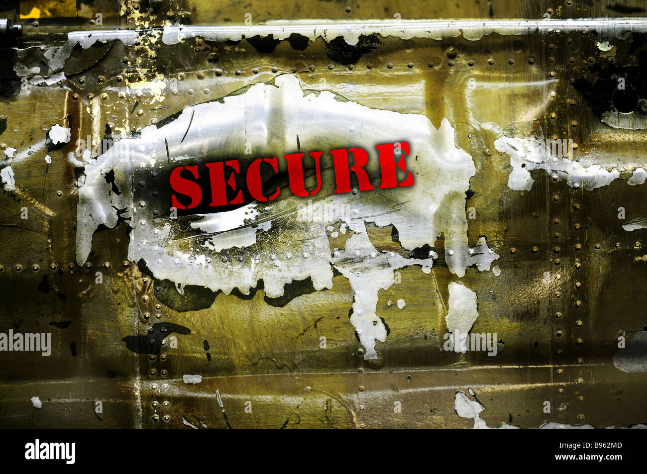 Secure safe - Stock Image