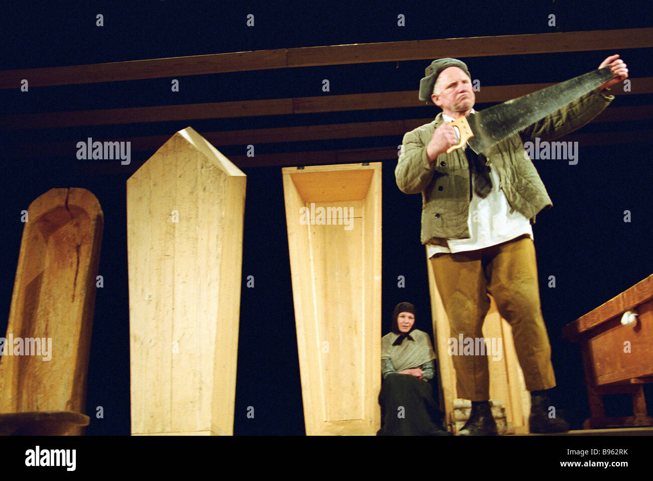 The Moscow Youth Theatre premiered Rothschild s Fiddle stage version of Chekhov s novella Kama Ginkas director Valeri - Stock Image
