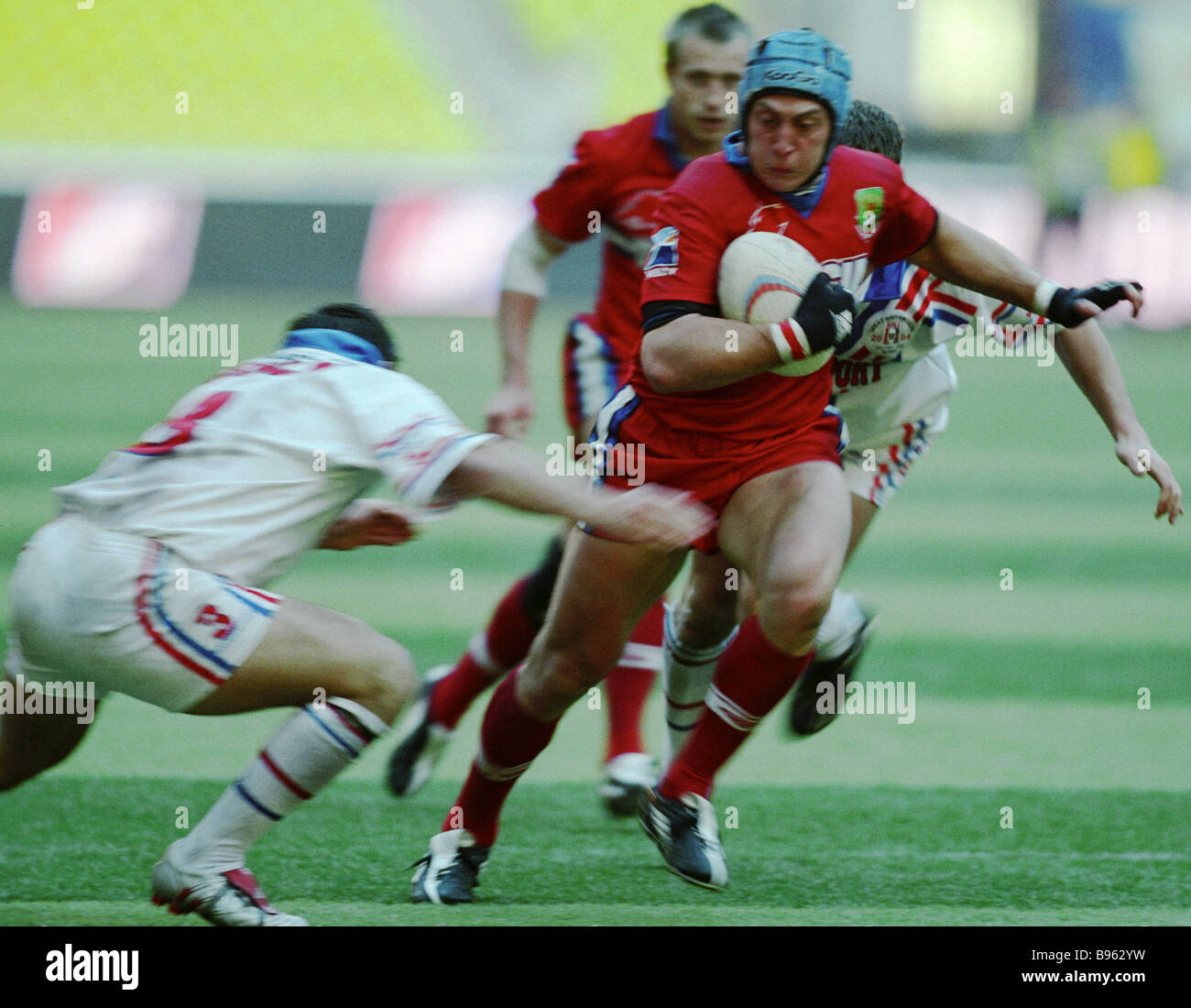 Victory Cup finals between Russia s and Britain s Rugby League selects Luzhniki stadium s Grand arena - Stock Image