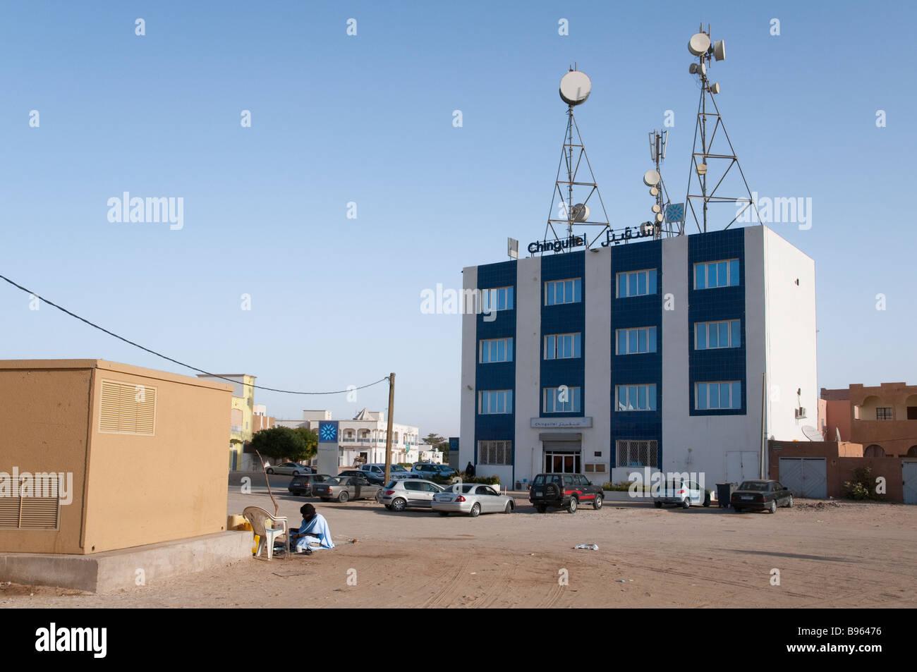 West Africa Mauritania Nouakchott City Centre Chinguitel building - Stock Image