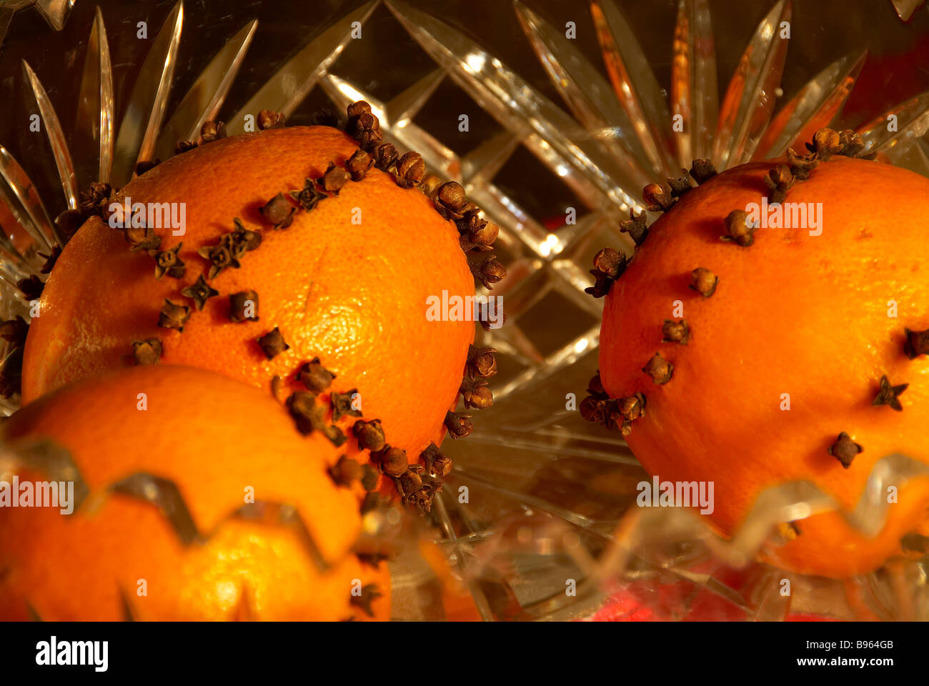 oranges with spices for Christmas Jutland Denmark - Stock Image