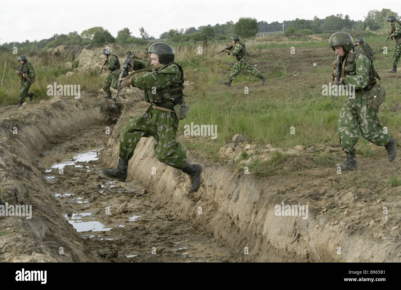 The Interior Ministry s special force members training at their base - Stock Image