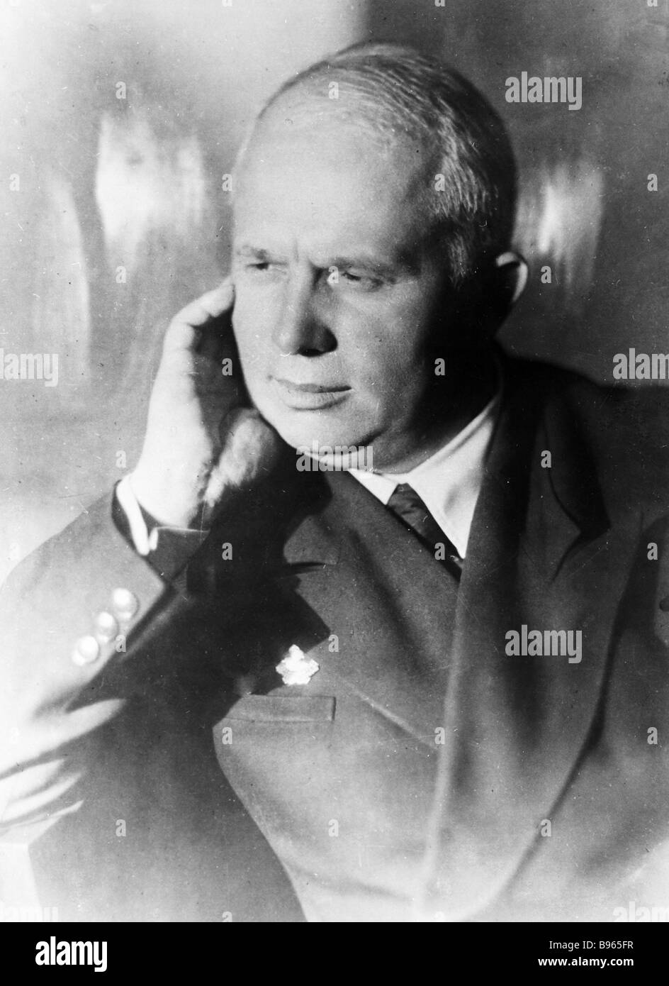 Nikita Khrushchev first secretary of the Moscow regional and city committee of the all Union Bolshevik Communist - Stock Image
